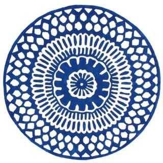 nuLOOM Handmade Lattice Blue Rug (6' Round)