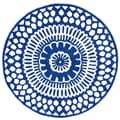 nuLOOM Handmade Lattice Blue Rug (6' Round)