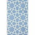 nuLOOM Handmade Star Trellis Light Blue Wool Rug (7'6 x 9'6)
