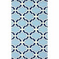 nuLOOM Handamde Lattice Light Blue Wool Rug (8'6 x 11'6)