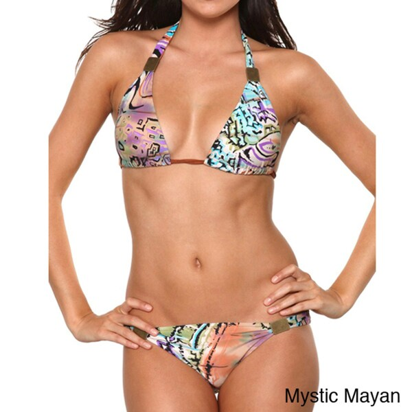 1 Sol Swim Grecian Tribal Print Bikini Set