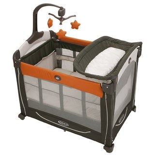 Graco Element Pack 'n Play Playard with Stages in Tangerine