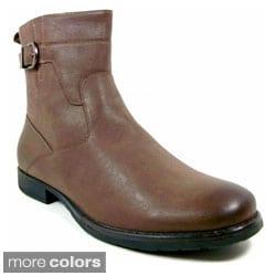 Polar Fox Men's Leatherette Mid-calf Motorcycle Boots