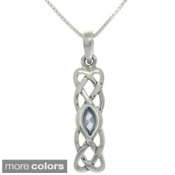 CGC Sterling Silver CZ Celtic Knot Necklace