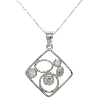 CGC Sterling Silver CZ Geometric Necklace