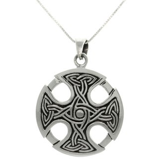 CGC Silver Celtic Medallion Cross Necklace