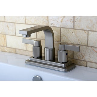 Euro Satin Nickel Centerset Bathroom Faucet
