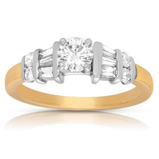 14k Two-tone Gold 7/8ct TDW Diamond Engagement Ring (I-J, I2-I3)