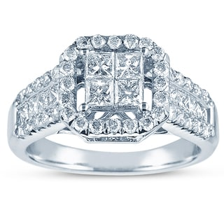 14k White Gold 1 1/2ct TDW Princess Diamond Ring (G-H, I2-I3)