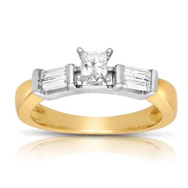 14k Two-tone Gold 5/8ct TDW Diamond Engagement Ring (J-K, I1-I2)