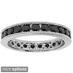 Moise Silver Black Cubic Zirconia Eternity Band
