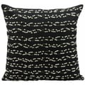 Nourison Mina Victory Luminescence Black/ Silver 18 x 18-inch Decorative Pillow