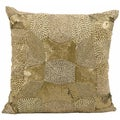 Nourison Mina Victory Luminescence Antique Gold 18 x 18-inch Decorative Pillow
