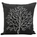Mina Victory Luminescence Tree of Life Charcoal 20 x 20-inch Decorative Pillow by Nourison