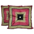 RLF HOME Nigel Stripe Onyx Throw Pillows (Set of 2)