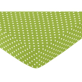 Sweet JoJo Designs Polka Dot Fitted Crib Sheet