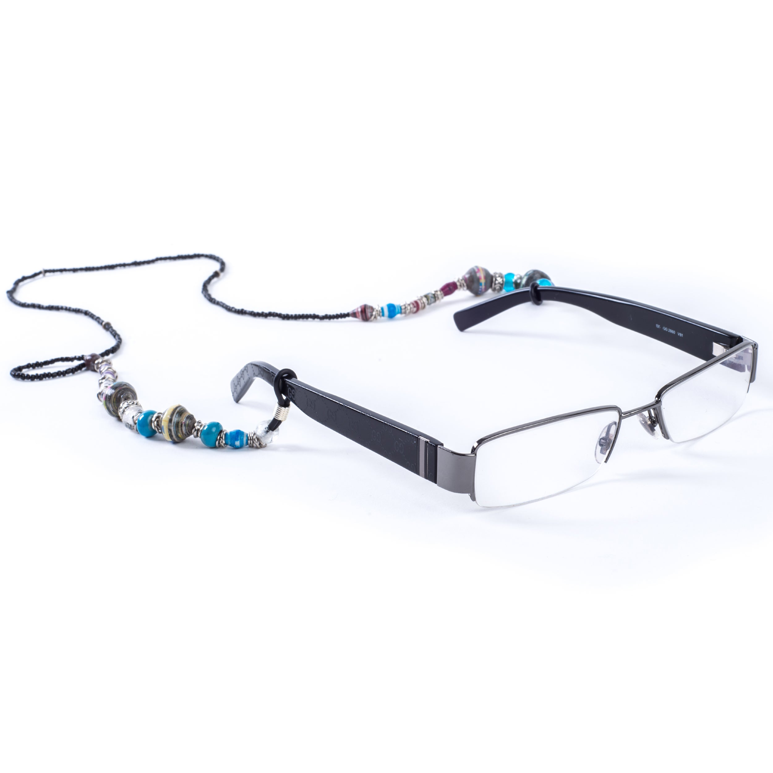 Handcrafted Recycled Paper/ Glass Beads Tribal Eyeglass Holder (Kenya) at Sears.com
