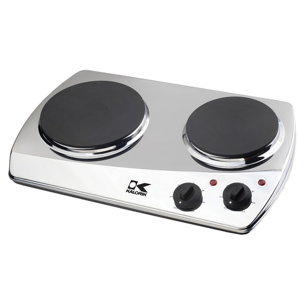 Kalorik Chrome Double-plate Cooking Burner