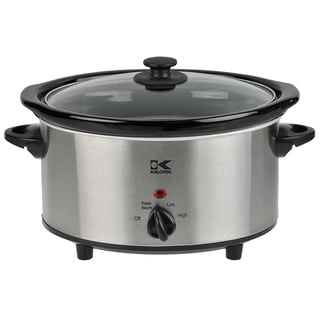 Kalorik Stainless Steel 3.7-quart Slow Cooker (Refurbished)