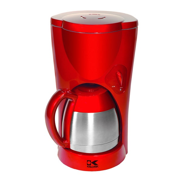 Kalorik Red Metallic Coffee Maker with Thermoflask Jar (Refurbished)