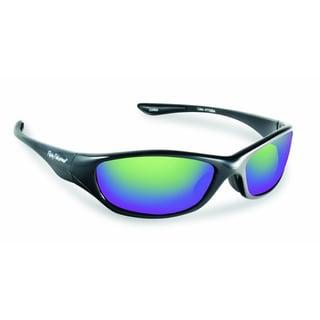 Flying Fisherman Black/Amber Green Mirror Cabo Sunglasses