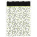 Spirodot Lime and Black Cotton Shower Curtain