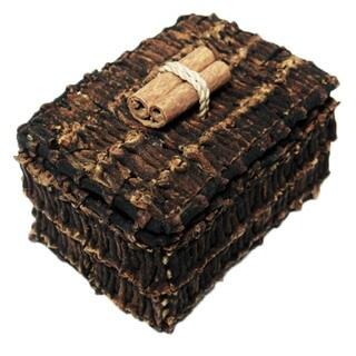 Handmade 3-inch Rectangle Clove Box (Indonesia)