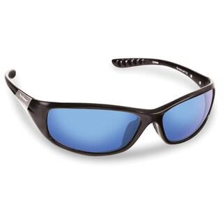 Flying Fisherman Matte Black/Smoke Blue Mirror Sundance Sunglasses