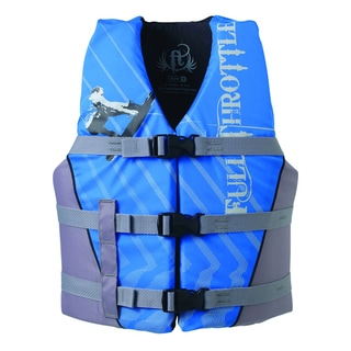 Full Throttle Youth Blue/ Silver Nylon Water Sport Vest