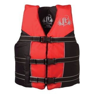 Full Throttle Youth Nylon Water Sports Red/ Black Life Vest