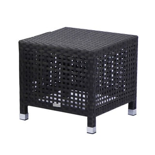 Matterhorn Espresso Weaved Wicker Outdoor End Table