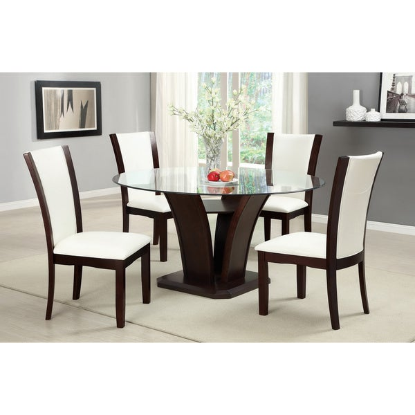 Furniture of America Gale 5 piece Two tone Glass and  : Furniture of America Gale 5 piece Two tone Glass and Cherrywood Dining Set c89dab13 2c28 4df9 8eaf 1a6fc51d3669600 from www.overstock.com size 600 x 600 jpeg 39kB