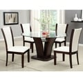 Gale 5-piece Two-tone Glass and Cherrywood Dining Set
