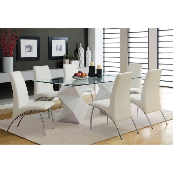 Furniture of America Picazzo 72-inch 7-piece Dining Set