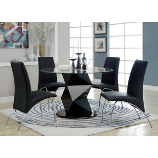 Furniture of America Picazzo 48-inch Round Tempered Glass Dining Table