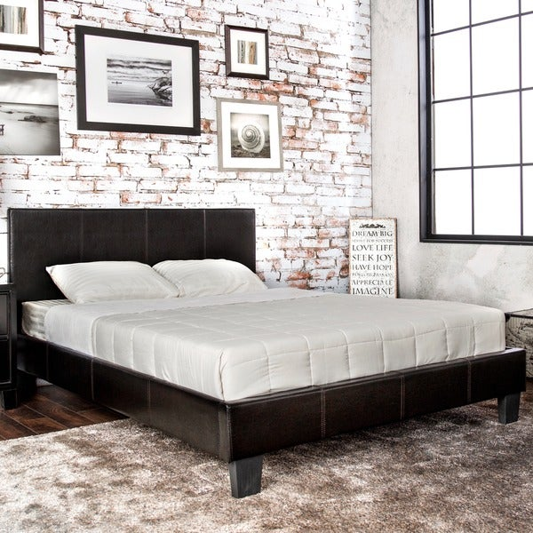 Furniture of America Kutty Modern Full Size Padded Leatherette Platform Bed