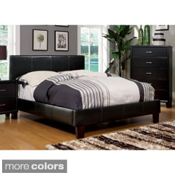 'Kutty' Modern Full Size Padded Leatherette Platform Bed