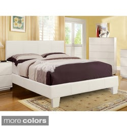 Furniture of America 'Kutty' Modern Twin Size Padded Leatherette Platform Bed