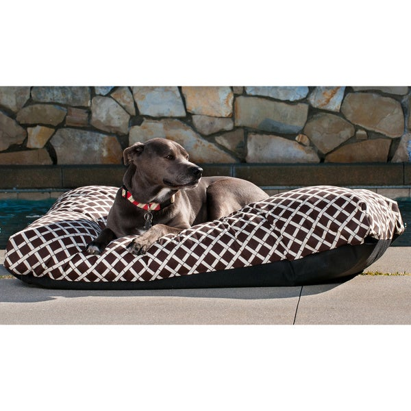 Indoor/ Outdoor Bamboo Print Pet Bed