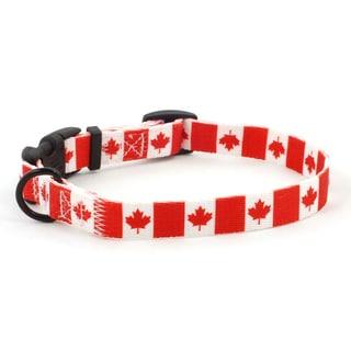 PatriaPet Canadian Flag Dog Collar