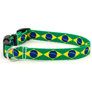 Brazilian Flag Dog Collar