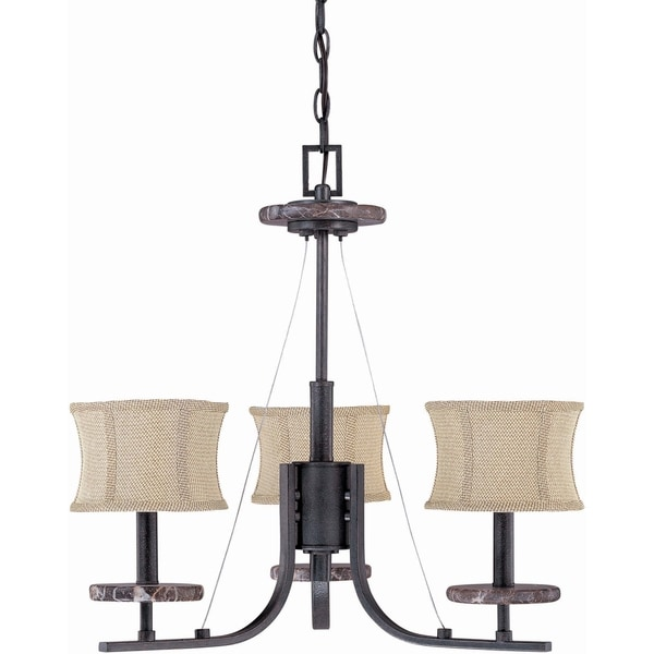 Nuvo Madison 3-light Ledgestone Chandelier