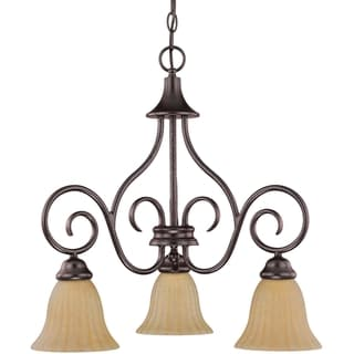 Nuvo Moulan 3-light Copper Bronze Chandelier