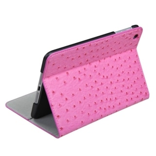 MYBAT Hot Pink Ostrict Leather Case 788 for Apple iPad Mini