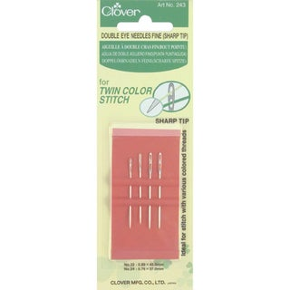 Double Eye Fine Sharp Hand Needles 4/Pkg-