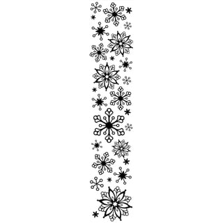 "Embossing Folder Border 2.5""X12""-Snowflake"