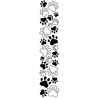 "Embossing Folder Border 2.5""X12""-Paw Print"