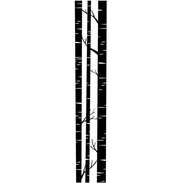 """Embossing Folder Border 2.5""""X12""""-Trunks"""