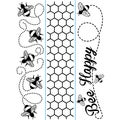 "Embossing Folder Borders 1.5""X5.75"" 3/Pkg-Bee"