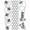 Embossing Folder Borders 1.5&quot;X5.75&quot; 3/Pkg-Bee